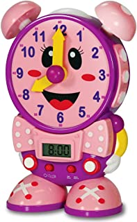 The Learning Journey Telly The Teaching Time Clock Pink - Electronic Analog & Digital Time Telling Aid with Two Quiz Modes & Night Light - Preschool Toys & Gifts for Boys & Girls Ages 3 & Up