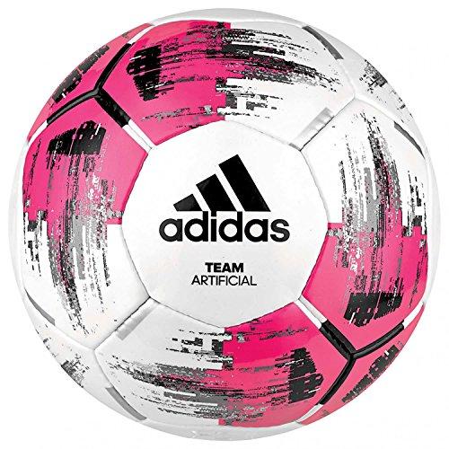 adidas Fußball Team Künstlich, Rosa (Weiß / Schock Pink / Schwarz / Silber Metallic), 5, DM5597