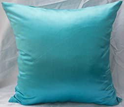 TangDepot Solid Heavy Satin Decorative Throw Pillow Cover, Pillow Shams, Square Pillow Covers, Cushion Covers, Pillowcase - (14