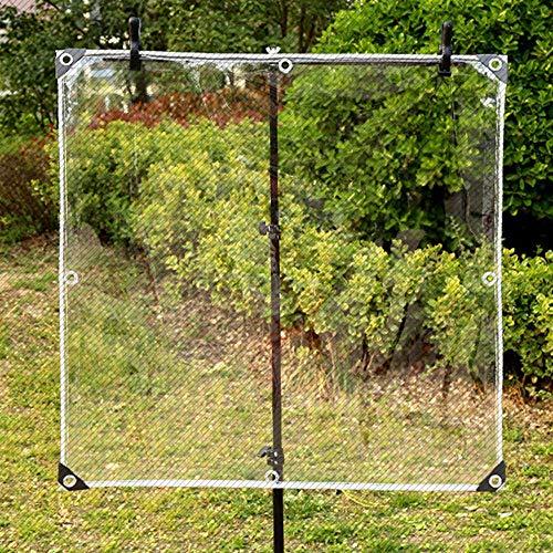 toldo PVC impermeable lona plástico transparente con Ojales 0.35mm para desgarrar la planta de jardín Lluvia del techo-1.2x3m
