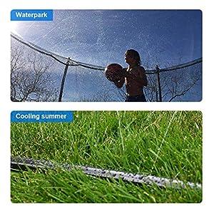 INMUA Trampolin Sprinkler, Outdoor Trampolin Wasserpark Sprinkler, Summer Water Fun Sprayer für Jungen Mädchen (8M / 26.2FT)
