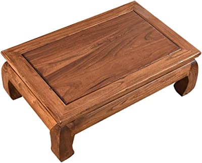Table Tatami Coffee Table Solid Wood Bay Window Table Japanese Low tableSmall Coffee Table Tea Table Tables (Color : Brown-B, Size : 75 * 45 * 23CM)