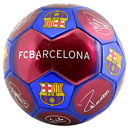 Barcelona FC Signature Ball Size 5 Club Crest 26 Panel Stitched Official Product