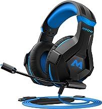 Mpow EG9 - Cuffie da gaming PS4, suono avvolgente 40 mm, con microfono RGB, cavo 2,2 m, fascia per adulti e bambini, per P...