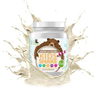Bare Necessities Kids Protein Shake Mix. Nutritional Drink Powder That is Made Without Dairy, Gluten, or Soy. 10g Protein (Pea & Collagen) and 11 Vitamins. (Vanilla Bear, 15 Servings)