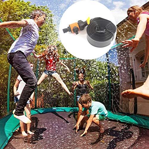 SVHK Sprinkler de Agua de trampolín, Verano al Aire Libre Juego Juguetes, para niños 39ft, Parque acuático de trampolín, Juego de Agua Rociadores de trampolín para niños, niñas y Adultos