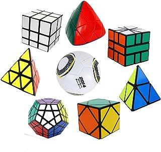 8 embalados Irregular cubo mágico Cubo Cubo de velocidad: Cuadrado-Espejo-Skewb-Megaminx-Pyraminx-Pyramorphix-Magic Cubo de la bola Brain Teaser