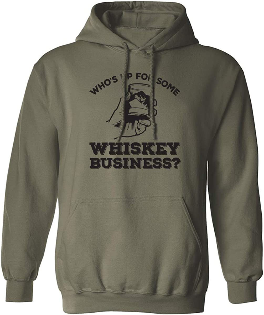 Who's Up For Some Whiskey Business? Adult Hooded Sweatshirt