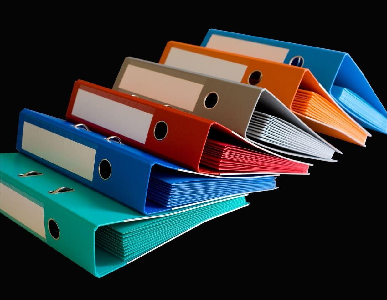 Smartfolder Es 420302 - Kit Archivador a Palanca y 12 Carpetas porta documentos A4 multitaladro Smartfolder, cierre por solapa velcro, arandelas reforzadas, colores surtidos A4