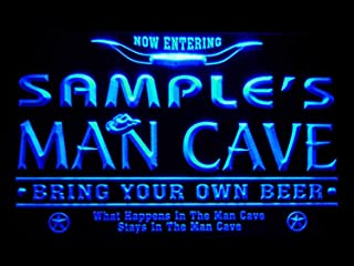 ADVPRO pb-tm-b Man Cave Name Personalized Custom Game Room Cowboys Bar Beer LED Neon Sign Blue 24x16 inches