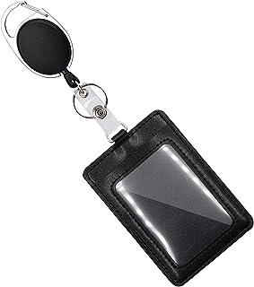 Mczcent Porte Badge avec Yoyo et Cordon a Deux Façons de Porter, Verticale ID Card Badge Holder Porte-badge D'identificati...