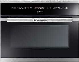 Küppersbusch Design Compact Einbau-Backofen EEBK6551.0JX1, 45cm, Schwarz mit Designkit Edelstahl, Energieklasse A, 28 Programme und Funktionen, Automatikprogramme, Grafik-Display, Bratenthermometer