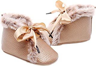 Mistshopy Newborn Baby PU Leather Bootie Infant Boy Girl First Walkers Sneaker Toddler Soft Sole Prewalker Shoes