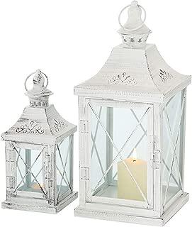 Lanterne Farol h36cm Métal//Verre Blanc