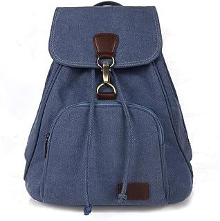 Unbekannt Rucksack aus Segeltuch, Casual, für Damen, Reise, Herren, Marineblau Blau - P-70