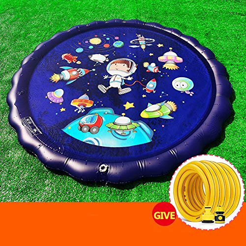 QWEA Almohadilla de Salpicadura,Juego de Salpicaduras,Juguetes de rocío de Agua para niños de jardín de Verano,se Pueden Utilizar para Actividades Familiares al Aire Libre/Fiestas/Playa /