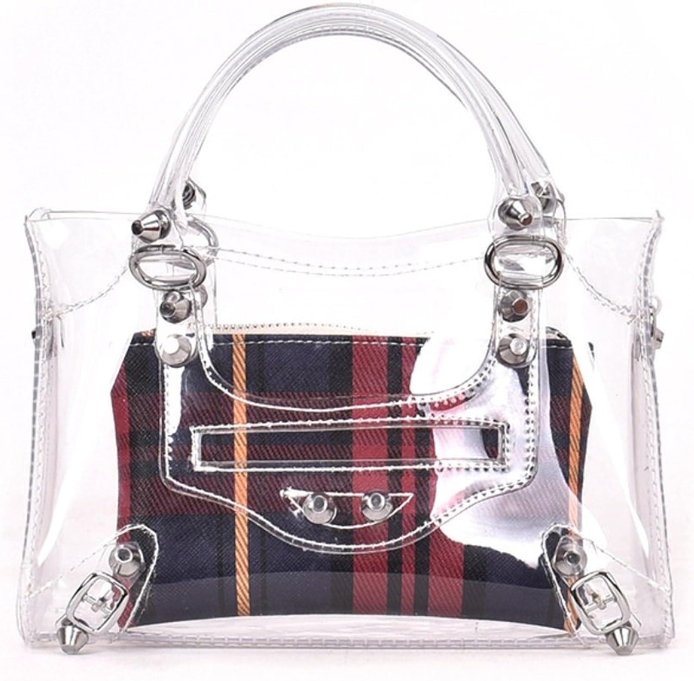 SHISHANG Damen Messenger Bag 2018 Sommer Neue PVC Transparente Tasche Casual Fashion Lattice Tasche ZYXCC B07FMQPB39  Hervorragende Funktion