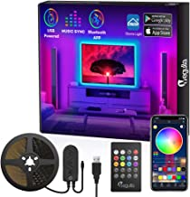 Bluetooth LED Strip Lights with Remote, Megulla APP Controlled 10ft/3m USB RGB LED Light Strip, Sync with Music, 16 Million Colors for Home, Kitchen, TV, Party, Bedroom, PC Monitor, Gaming Room