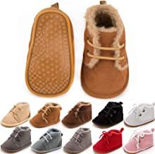 NEEKEY Infant Newborn Baby First-Walking Shoes Cozy Booties Baby Girls Baby Boys Warm Winter Flat Shoes Christmas Shoes
