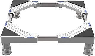 DEWEL Einstellbare Waschmaschinen-Untergestell SockelEinstellbare Größe:Länge&Breite 43 cm-67 cm, Höhe 10 cm -13 cmfür Trockner, Gefrierschrank oder Kühlschränke
