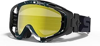 スワンズ(SWANS) ダートゴーグル MX-TALON-M ブラックxグレイ フレーム [フラッシュオレンジミラーxスモーク レンズ] L-TLN-M