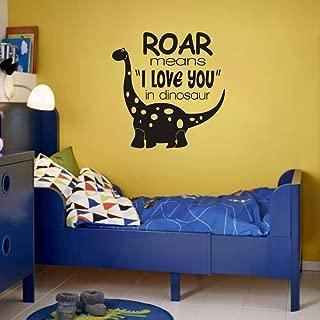 FlyWallD Dinosaur Wall Decals Baby Boy Room Nursery Vinyl Art Quotes Decor Paleontologist Sticker Decor Roar Means I Love You in Dinosaur