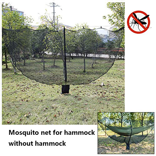 XYQCPJ Hammock Mosquito Net,Anti-Mosquito Net Cover 360° Omnidirectional Hammock Outdoor Portable Super Light With Ground Nail Wind Rope Common To All Hammocks 330 * 150cm