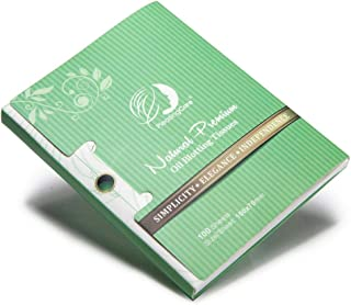 Natural Green Tea Oil Absorbing Tissues - 100 Counts, Premium Face Oil Blotting Paper - Take Only 1 Piece Each Time Design