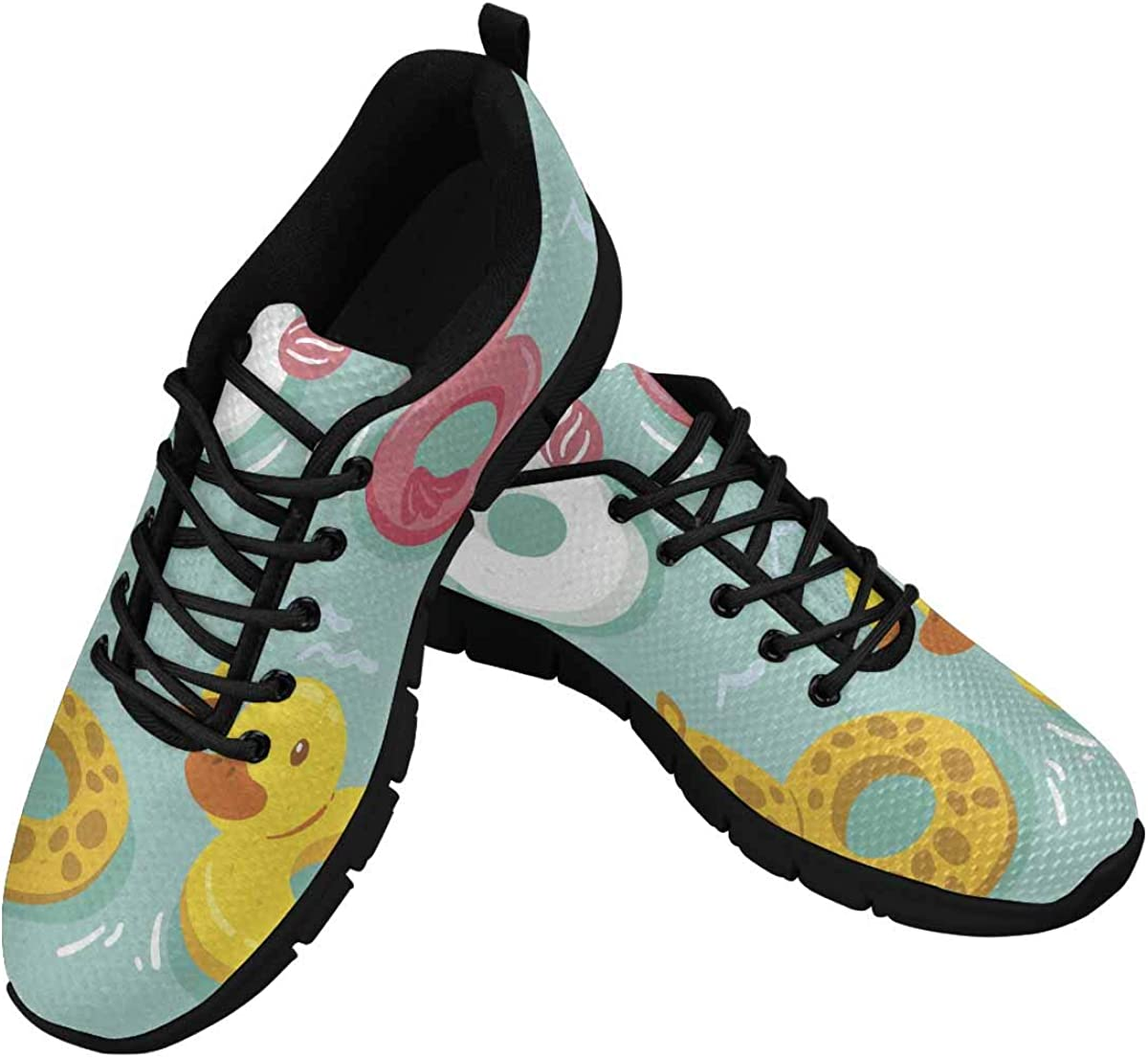 InterestPrint Pool Toys Women's Athletic Mesh Breathable Casual Sneakers Fashion Tennis Shoes
