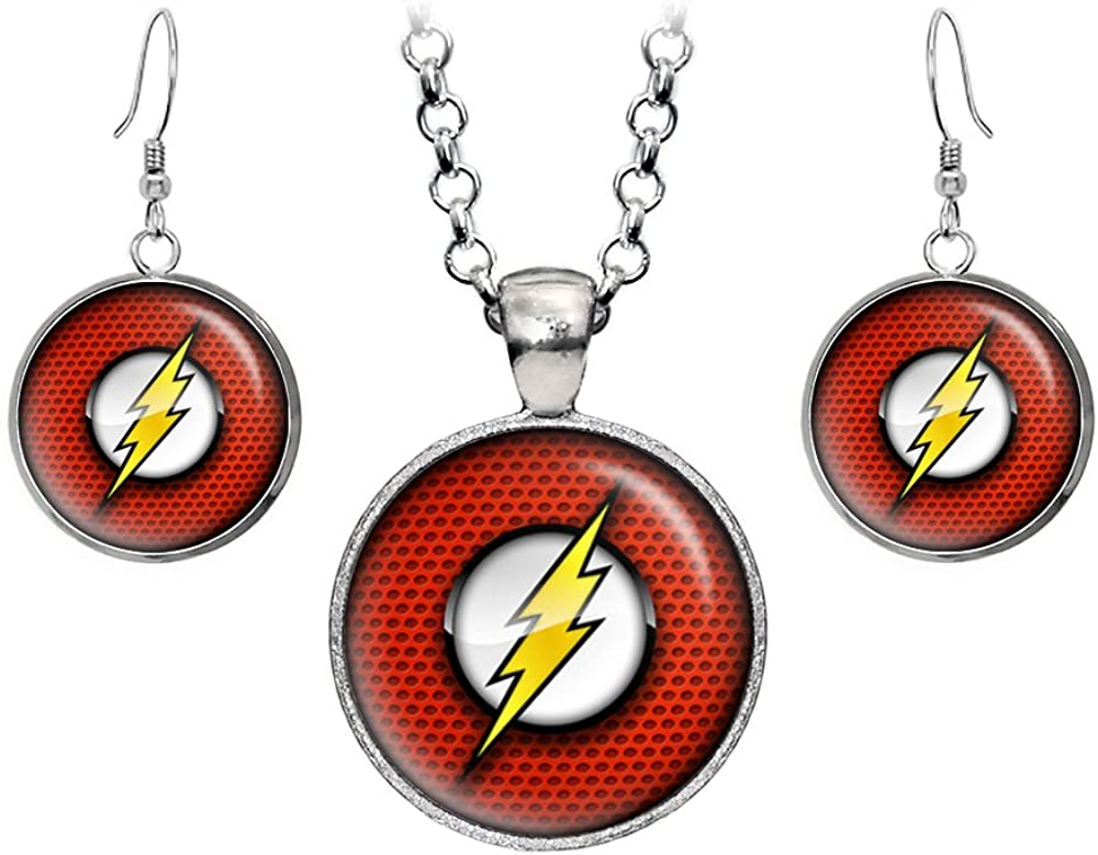 Wearable Treasures Flash Pendant Super special Bargain price DC Co Earrings Necklace