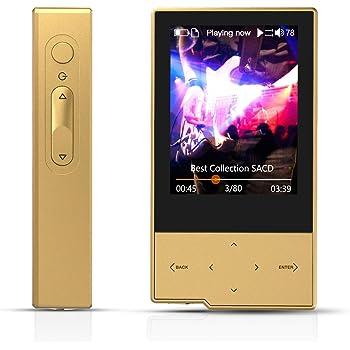 Hidizs AP60高解像度ミニBluetoothロスレスMP3ポータブル音楽プレーヤー ゴールド
