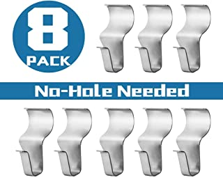 No-Hole Needed Vinyl Siding Hooks Hangers for Hanging 8 Pack, Heavy Duty Light Mailbox Planter Hanger 8 Pack