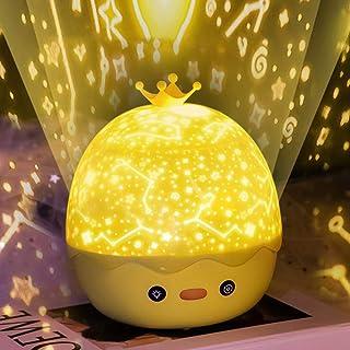 YUNYODA Proyector de luz nocturna para bebés, lámpara de luz nocturna de estrellas y proyector de olas oceánicas con altavoz Bluetooth, control remoto, luz de proyector de estrellas para niñas