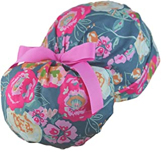 The Perfect Fit Ponytail Scrub Hat Original Design Best Fit Ever Pony Pouch - Trellis Roses