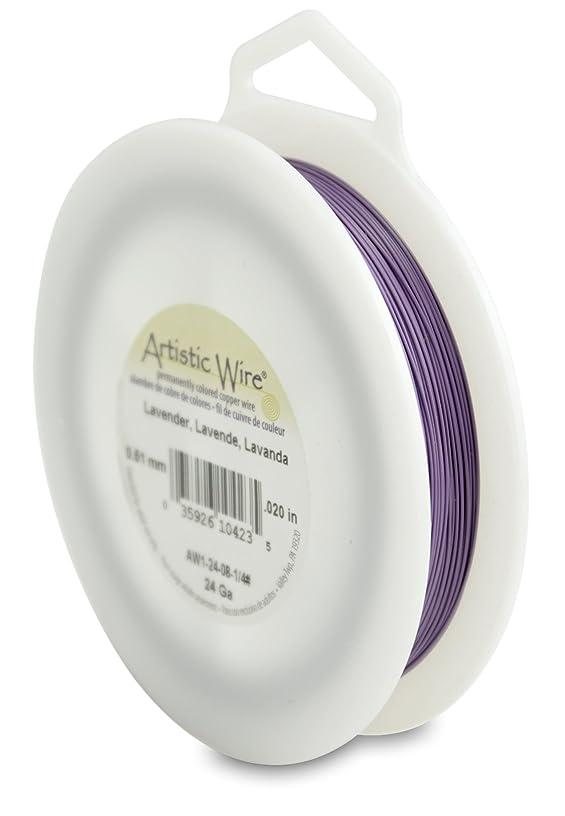 Artistic Wire 24-Gauge Lavender Wire, 1/4-Pound