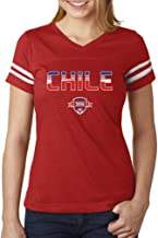 TeeStars - Chile National Soccer Team 2016 Fans Women Football Jersey T-Shirt