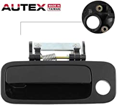 AUTEX Door Handle Black Exterior Outer Front Left (Driver Side) Compatible with Toyota Avalon 2000 2001 2002 2003 2004 80846, 69220AC030C0 TO1310131