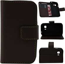 G130 Case, G130H Flip Case, Gift_Source Brand PU Leather Flip Wallet Case Card Holder Design for Samsung Galaxy Young 2 Duos G130H - Brown (1 X Screen Protector and Stylus Pen)