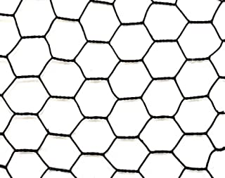 Trident Steel Hex Web Blk PVC Coated Fence 7.5' x 100'
