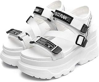 Sandali con Tacco Alto da Donna Estate 8CM High Platform Chunky Sneakers Female Beaches Casual Sandali con la Suola Spessa