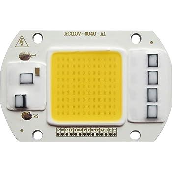 100W COB LED Bright Warm White License Light Bulb COB Chip
