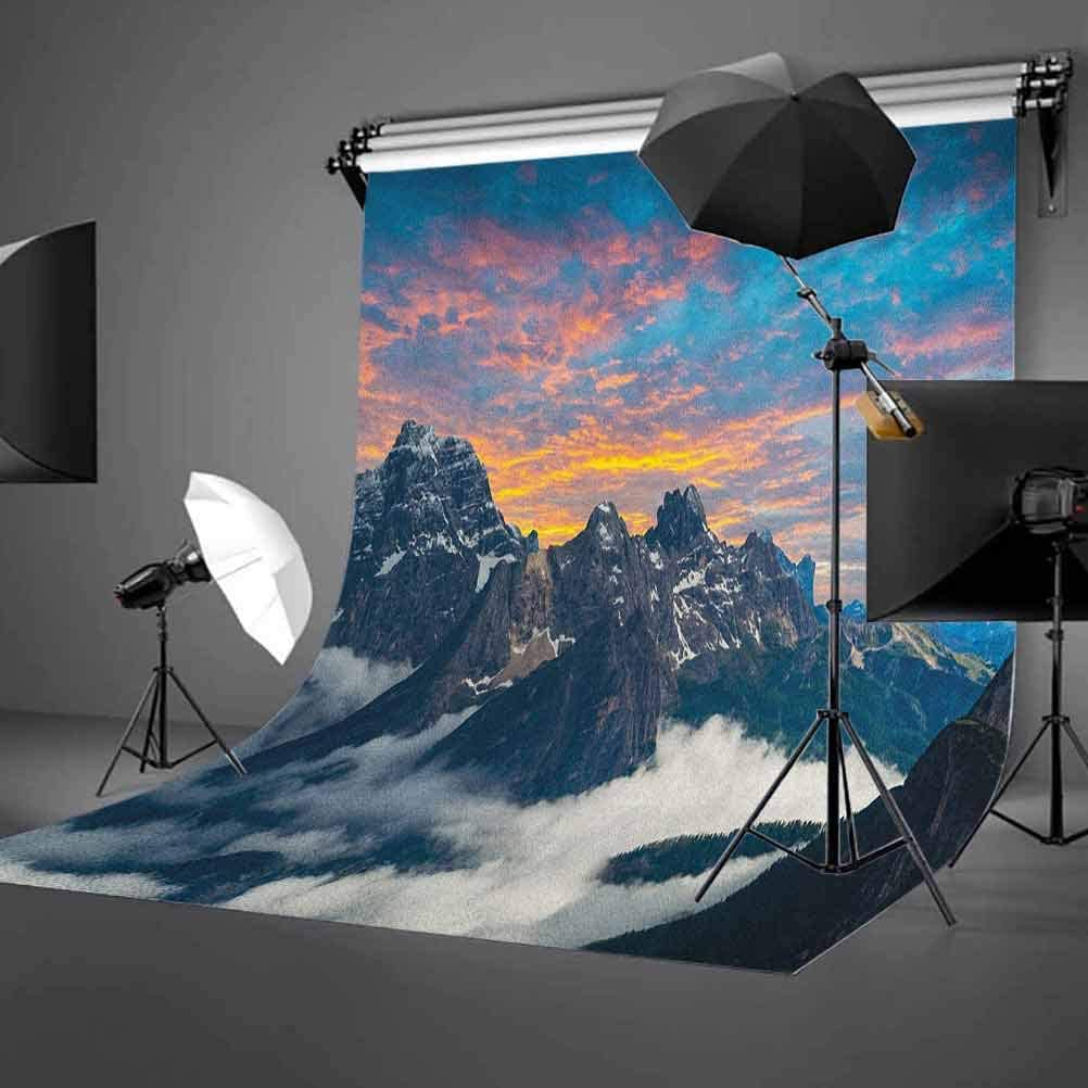 8x12 FT Vinyl Photography Backdrop,Circus Characters with Trained Animals Strong Man Trapeze Artist Retro Show Design Background for Child Baby Shower Photo Studio Prop Photobooth Photoshoot