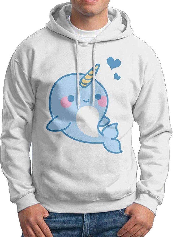 VHGJKGIN Kawali Baby Narwhal Casual Sweater Hooded Sweatshirt