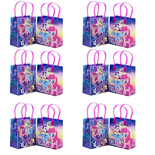 Little Pony Adventure and Friendship 12 Party Favor Reusable Goodie Small Gift Bags