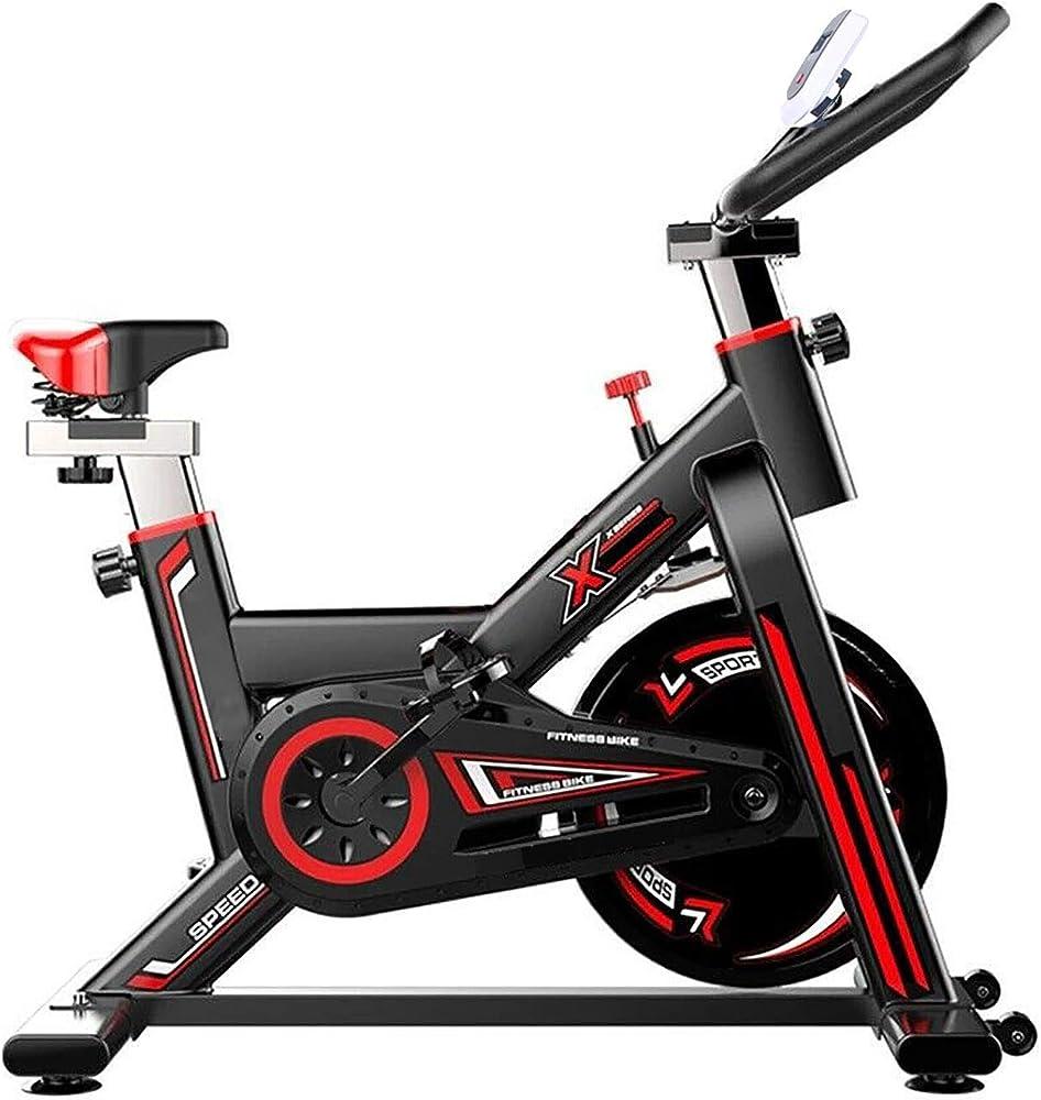 Govita cyclette, allenamento spin bike professionale, computer lcd, sensore di frequenza cardiaca