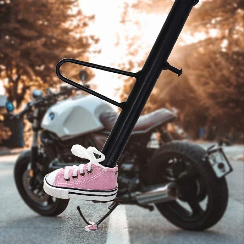 Jebester Fahrrad Ständer Schuh Motorrad Fußstütze Dekor Motorrad Ständer Pad Motorrad Ständerplatte Mit Kleinen Schuhen Modellierung Gut Für Fahrrad Enthusiasten Schwarz Sport Freizeit