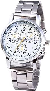 Triskye Men's Watches, Fashion Luxury Casual Neutral Quartz Analog Wristwatch On Sale Clearance Steel Band Wrist Watch for Men