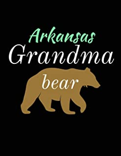 Arkansas Grandma Bear: Bear Journal Notebook to Write in