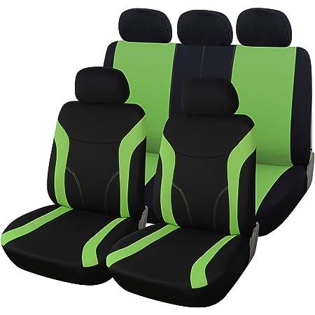 Woltu As7259gn Universal Schonbezüge Für Auto Sitzbezug Sitzschoner Autositzbezug Super Speed Schwarz Grün Auto