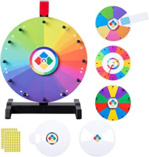 """WinSpin 12"""" Spinning Wheel Teaching Aid Material Math Words Time Game Templates Kids Early Skill Development"""